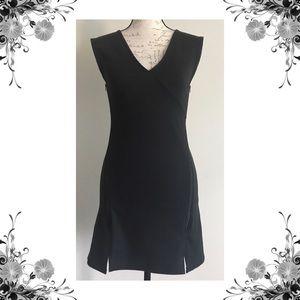 {Free People} NWOT Oslo Black Zipper Shift Dress